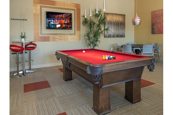 Clubhouse with Pool Table at Madrone, Austin, TX