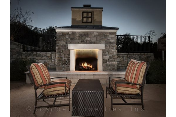 Outdoor Lounge with Fire Pit at Madrone, Texas