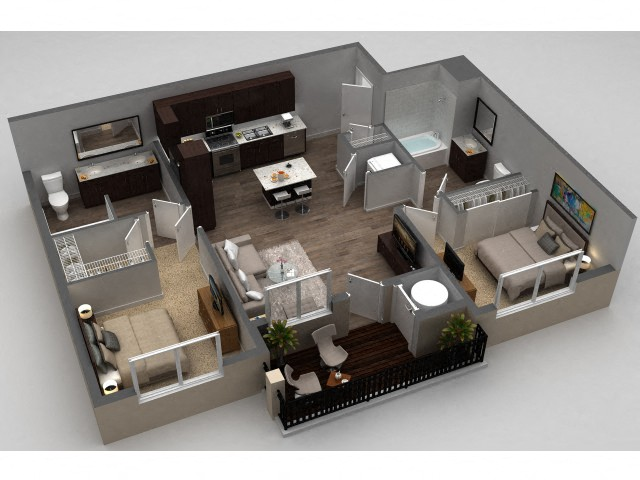 Floor plan at Parkhouse, Thornton, CO