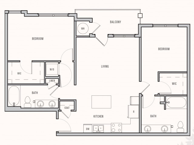 Floor plan at Parkhouse, Thornton, 80023