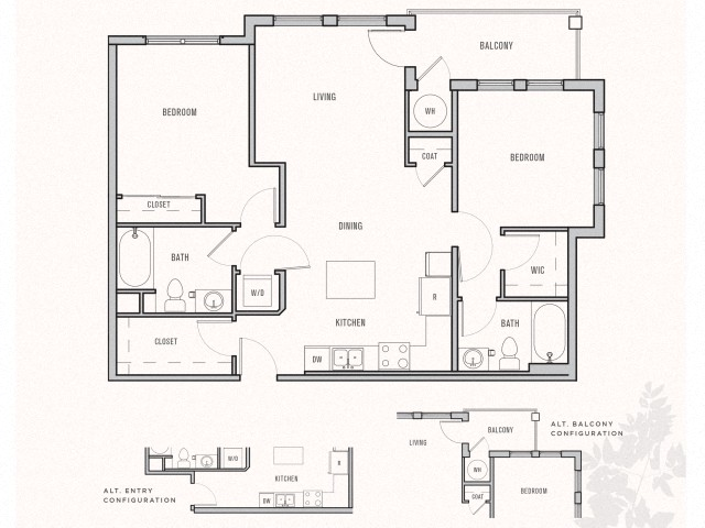 Floor plan at Parkhouse, Thornton,Colorado