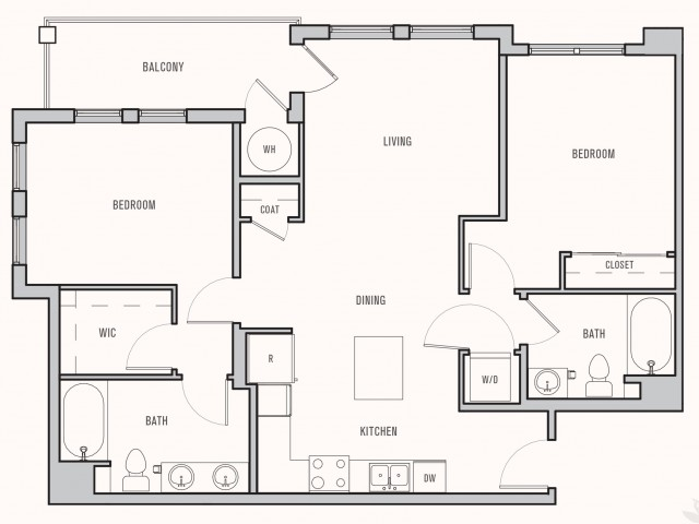 Floor plan at Parkhouse, Thornton