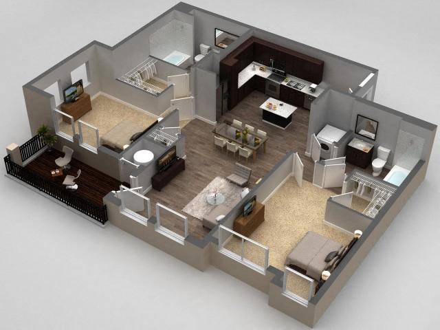 Floor plan at Parkhouse, Colorado, 80023