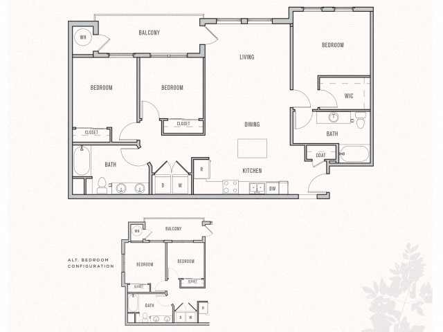 Floor plan at Parkhouse, Thornton, CO 80023