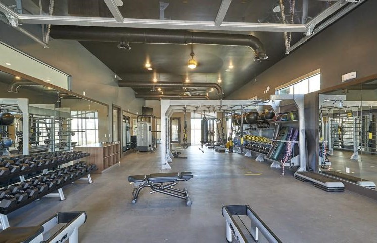 Fitness Center with Free Weights at Parkhouse, Colorado, 80023