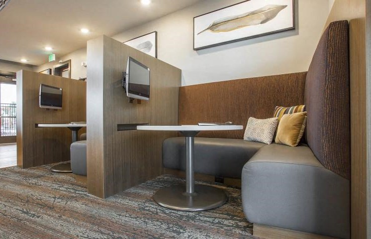 Resident Lounge with Private Cabins at Parkhouse, Thornton, CO