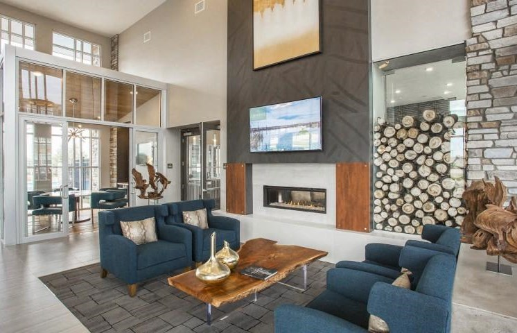 Clubhouse with Fireplace  at Parkhouse, Colorado, 80023