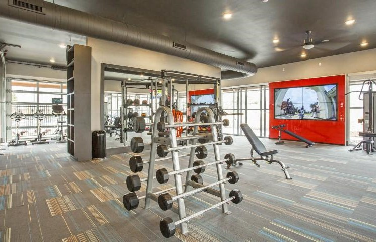 Fitness Center with Yoga and Spin Room at Parkhouse, Thornton