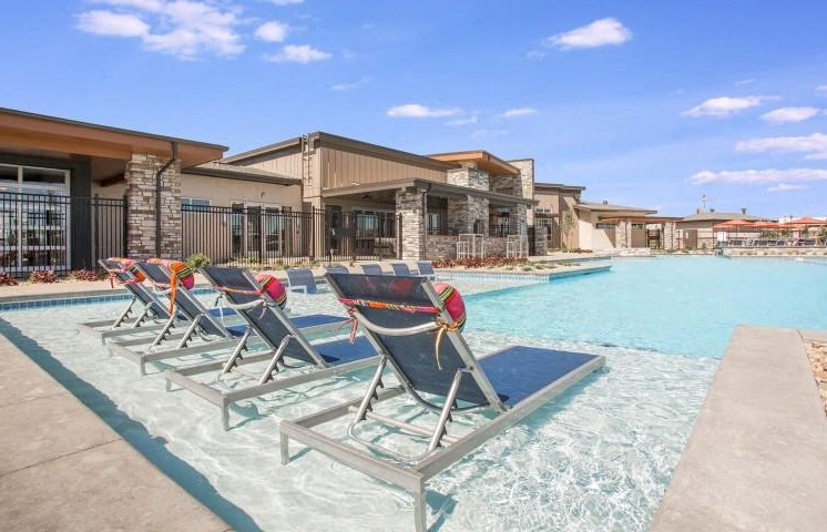 Resort Inspired Pool with Relaxing Tanning Ledge at Parkhouse, Thornton