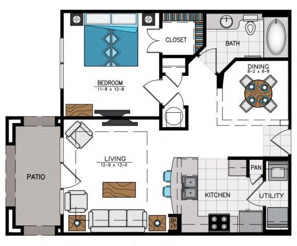 Floor plan at Heights at Sugarloaf, Georgia