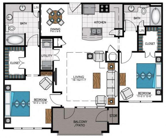 Floor plan at Heights at Sugarloaf, Georgia, 30097