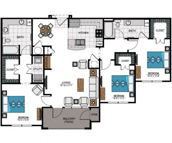 Floor plan at Heights at Sugarloaf, Duluth