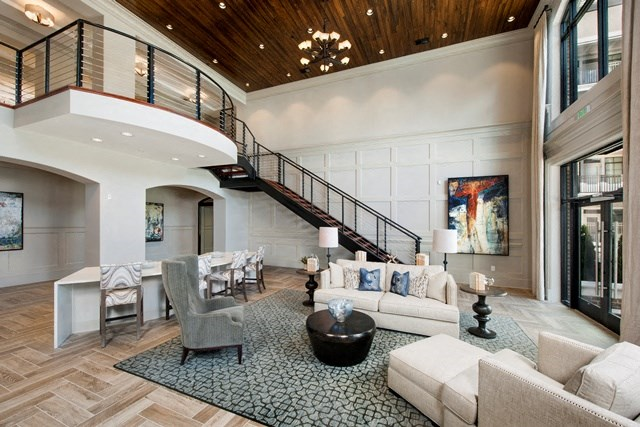 Clubhouse with Luxurious Interior at Heights at Sugarloaf, Duluth, 30097