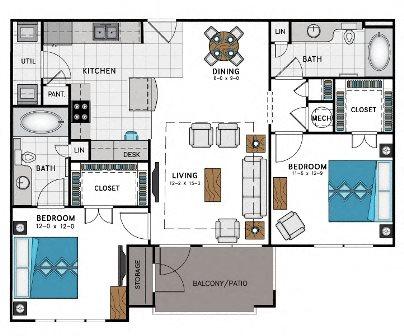 Floor plan at Heights at Sugarloaf, Duluth, GA 30097