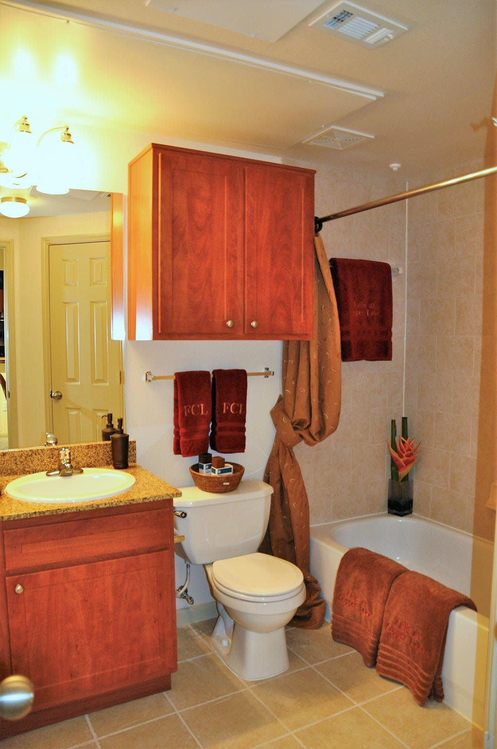 Bathroom With Luxurious Garden Tub And Extra Storage At Falls At Copper  Lake, Texas,