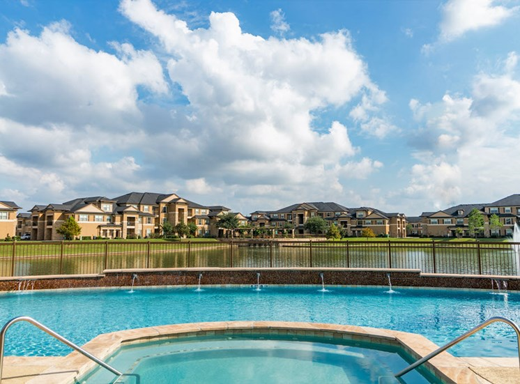 Relaxing Pool & Spa at Falls at Copper Lake, Houston