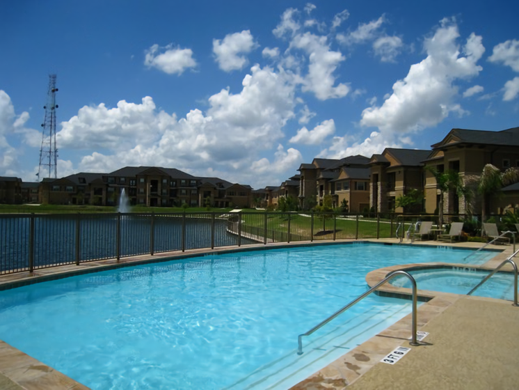 Beautiful Pool with Fences at Falls at Copper Lake, Texas