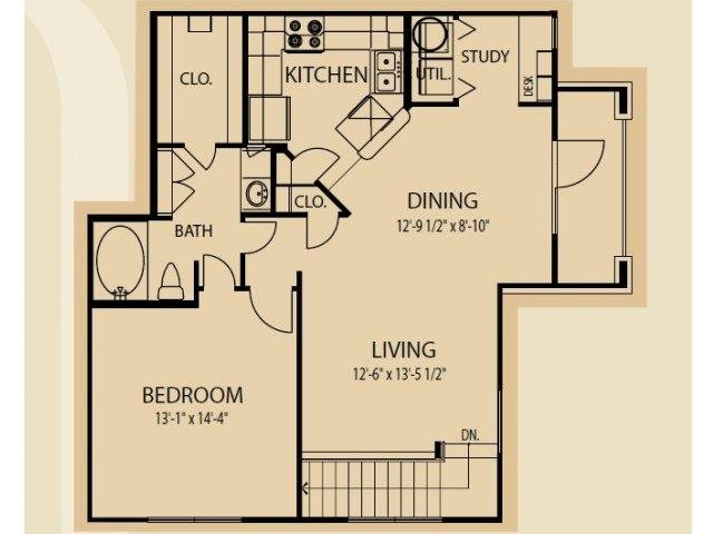 Floor plan at Falls at Copper Lake, Houston, 77095