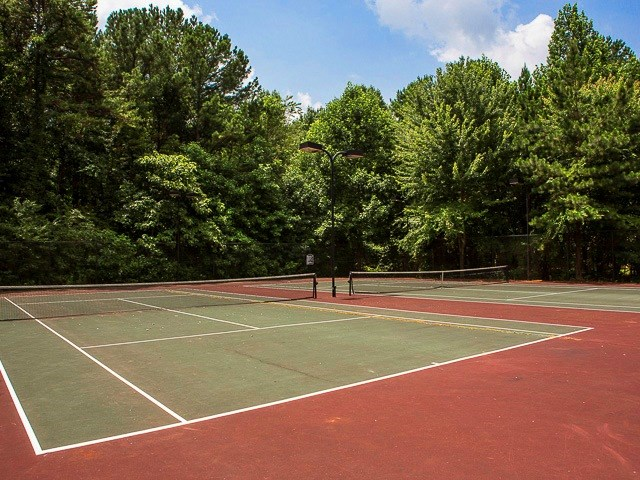 Lighted Tennis Court at Landmark at Coventry Pointe, Lawrenceville, GA