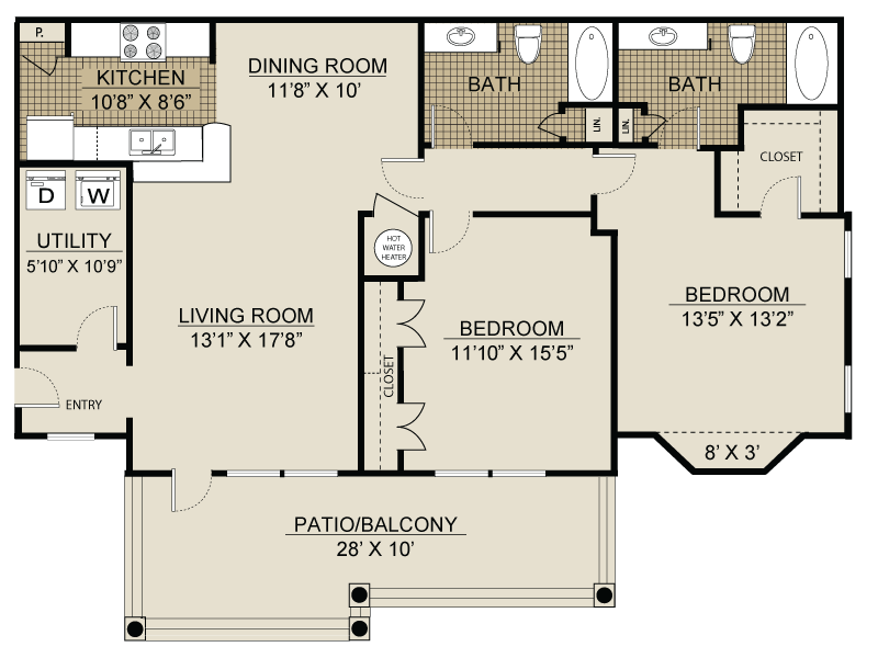 Floor plan at Landmark at Coventry Pointe, Lawrenceville,Georgia