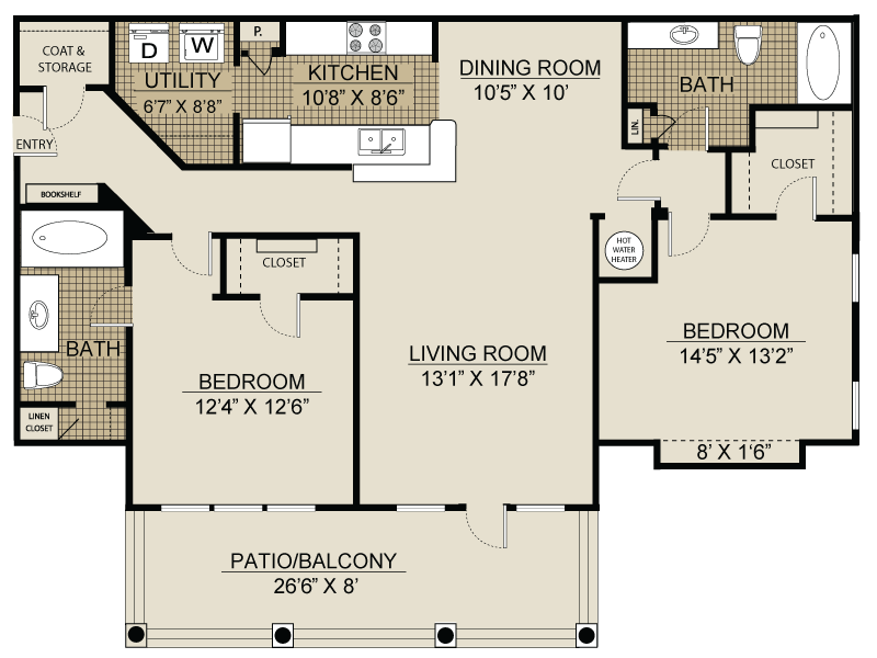 Floor plan at Landmark at Coventry Pointe, Lawrenceville