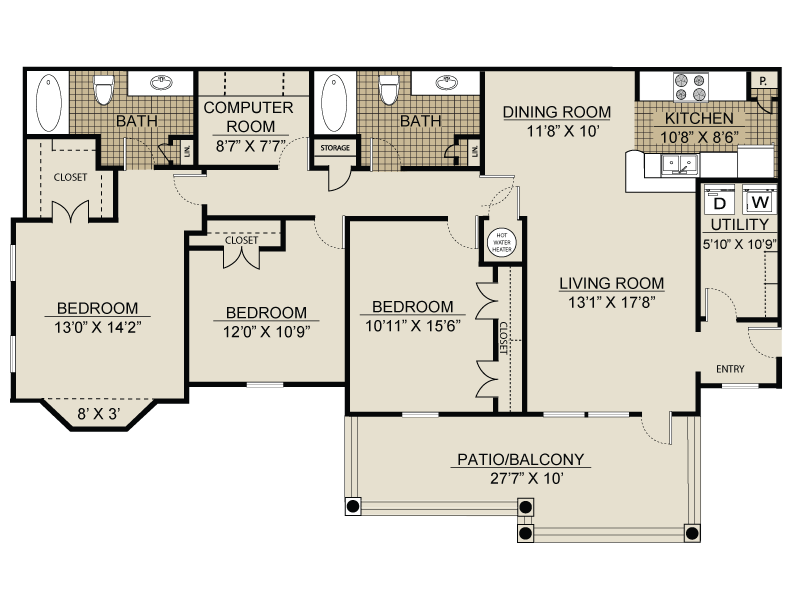 Floor plan at Landmark at Coventry Pointe, Georgia