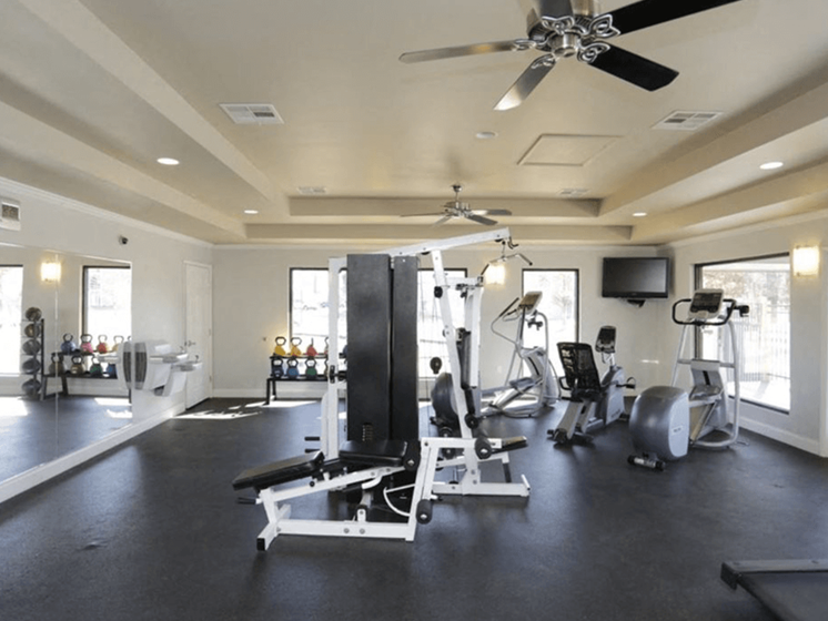 Fitness Center at apartment complex