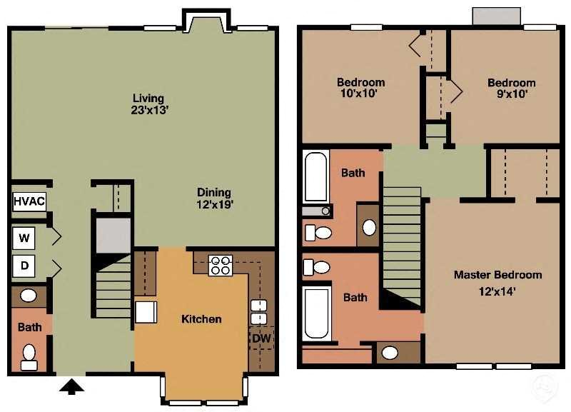 3Bed - 2.5Bath Floor Plan 5