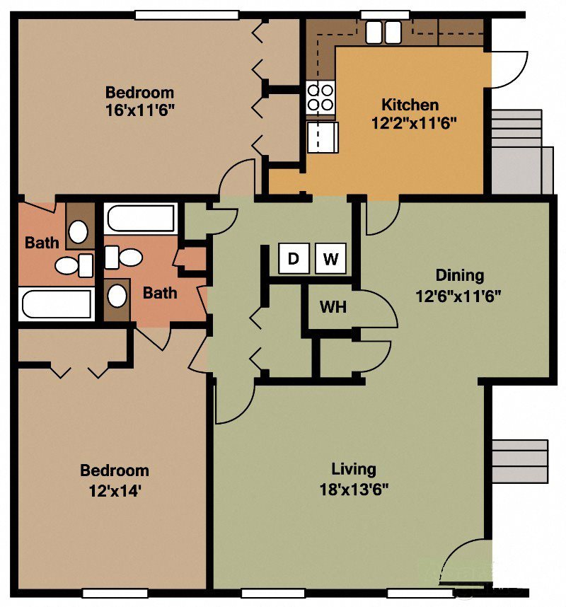 Apartments Huntsville Al: Floor Plans Of Waterford Square Apartment Homes In