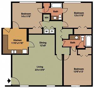 Three Bedroom Two Bath Flat