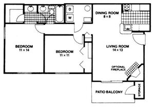 Two Bedroom One Bathroom