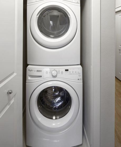 Full-Sized Stackable Washer and Dryer at Springville Oaks, 16320 NW Canton Street, Portland, 97229