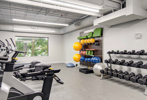 Fitness center- free weights, cardio machines