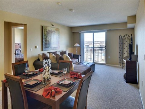 Step out balconies on select homes