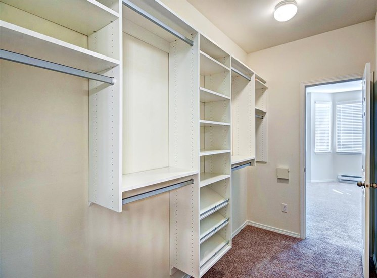 Roomy Walk-In and Reach-In Closets at Willina Ranch, Bothell, WA 98011