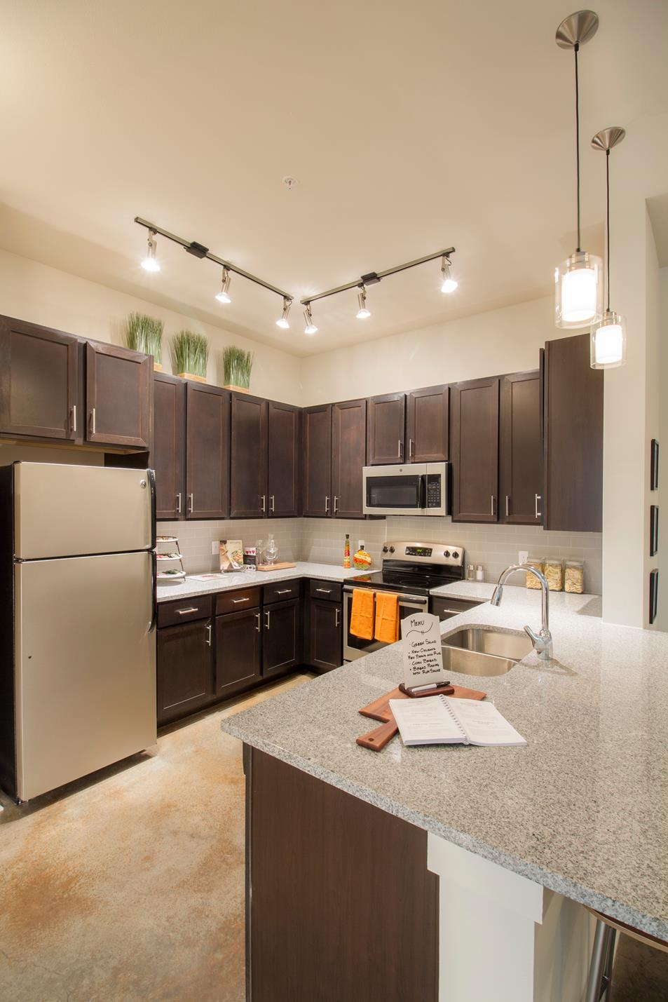 Granite Countertops in all Kitchens at The District, Baton Rouge