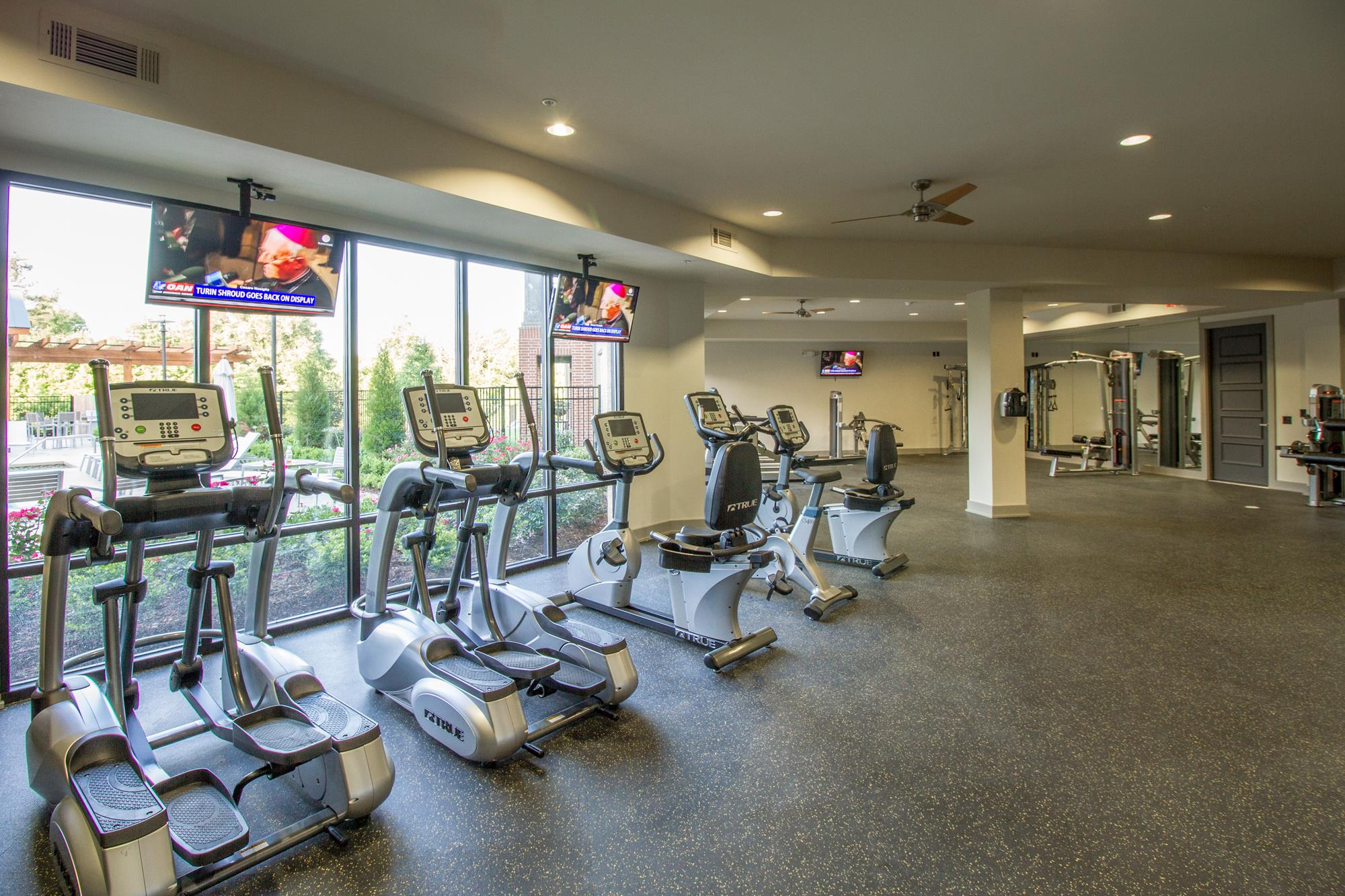 Fitness Center with Updated Equipment at The District, Baton Rouge, LA
