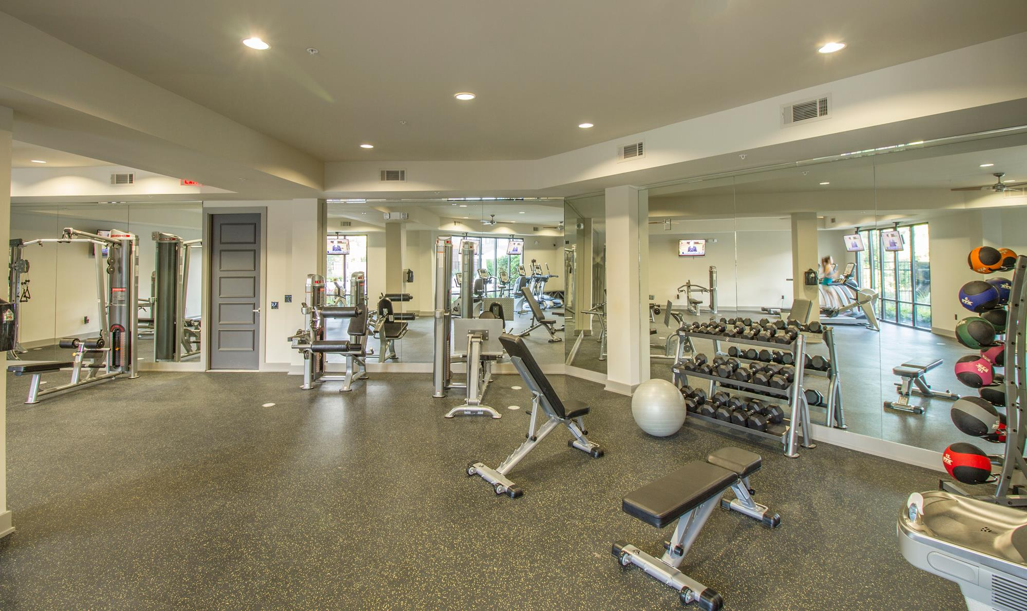 Fitness Center with Spa at The District, Louisiana