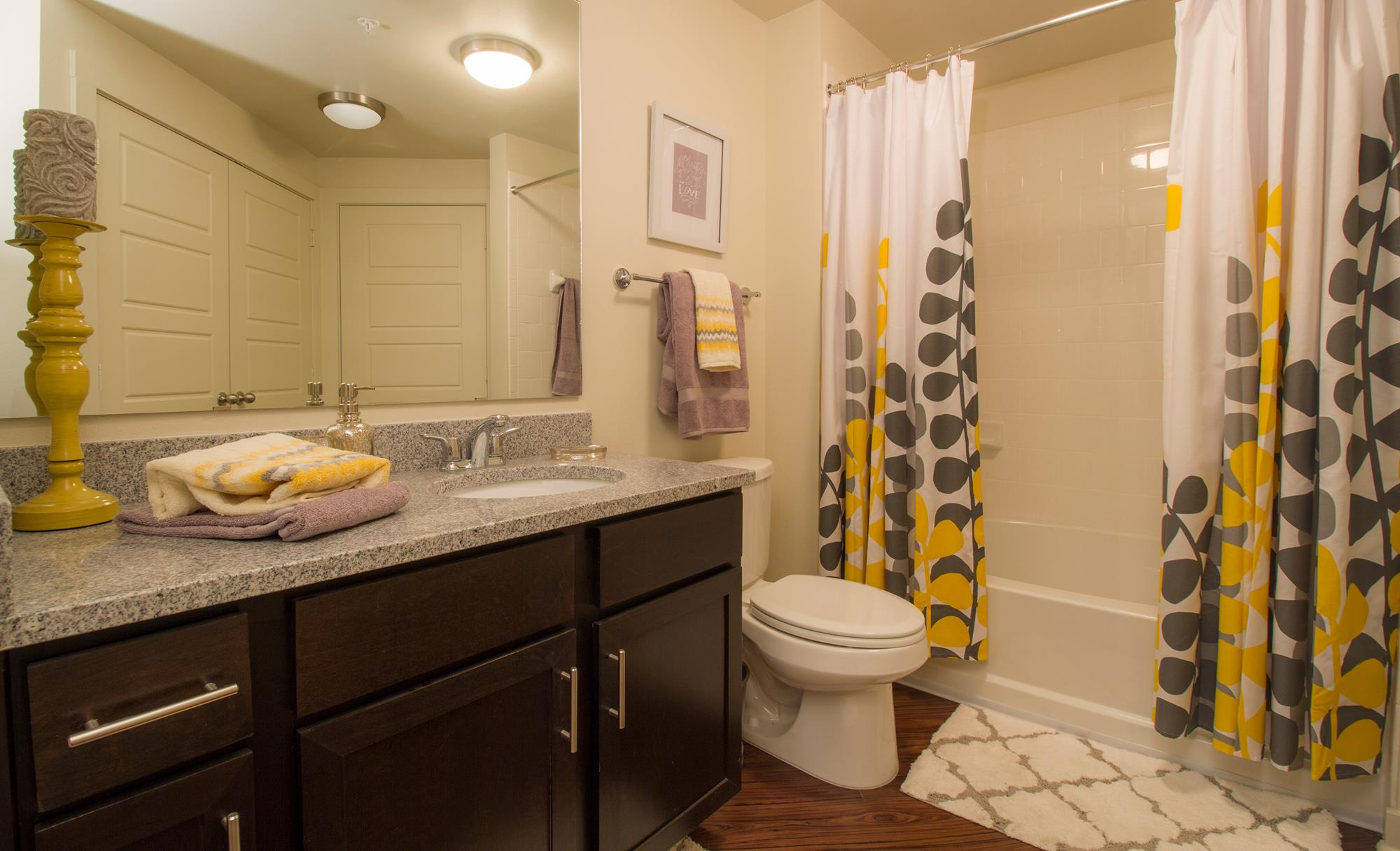 Bathrooms with Granite Style Countertops at The District, Baton Rouge,Louisiana