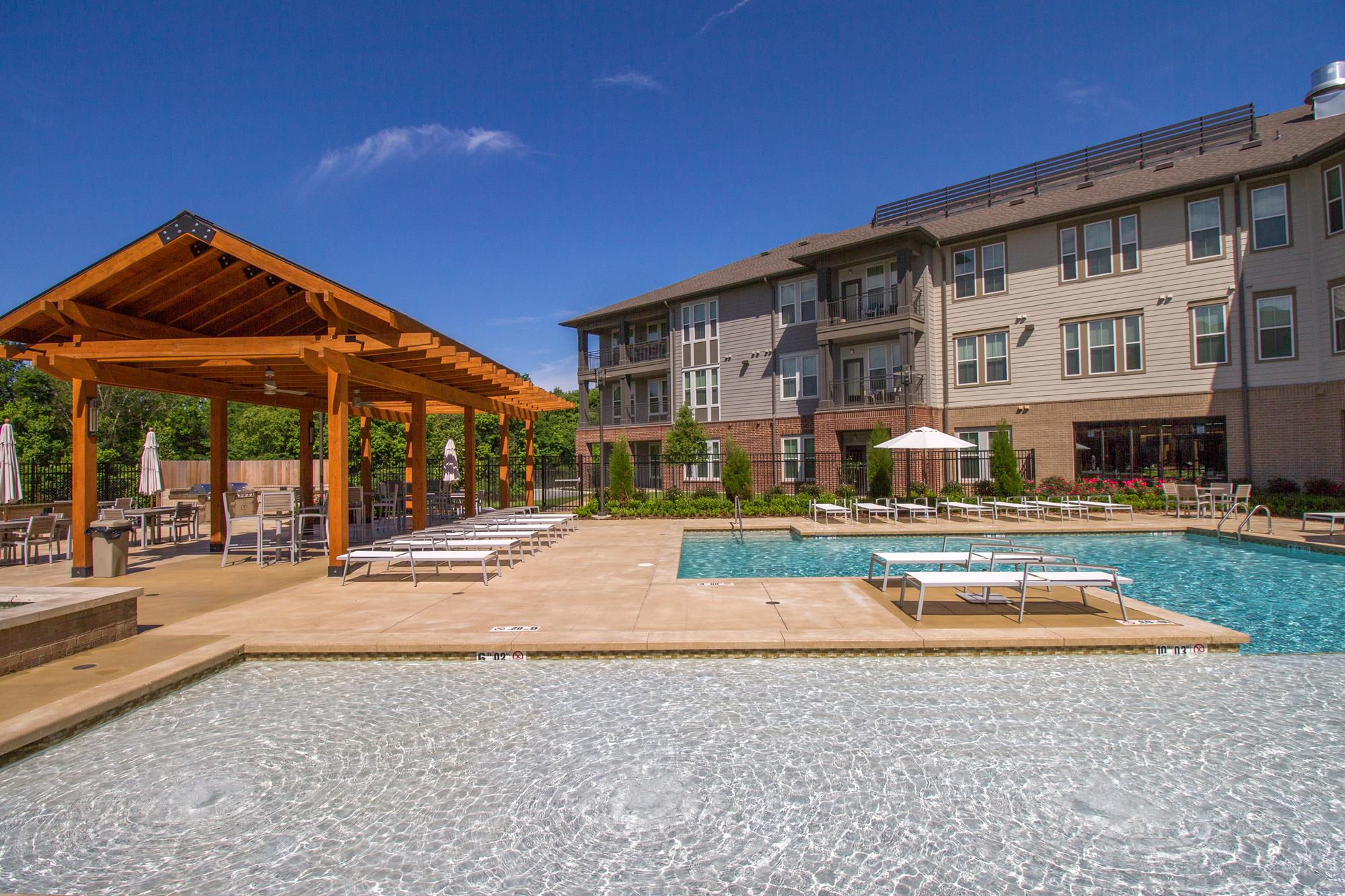 Resort Style Pool with Sun Pavilion at The District, Baton Rouge, 70808