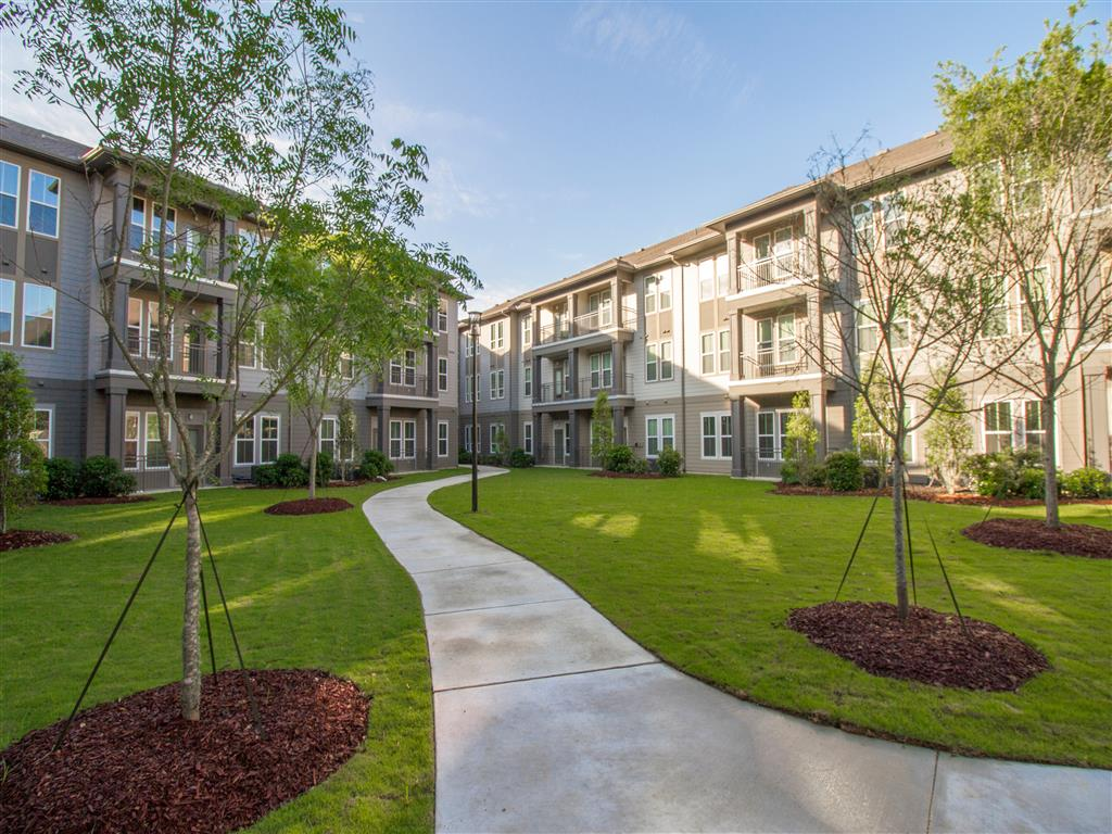 Landscaped Walkways at The District, Baton Rouge, LA