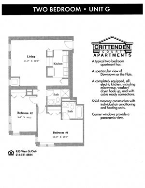 2 Bedroom 2 Bathroom - G style