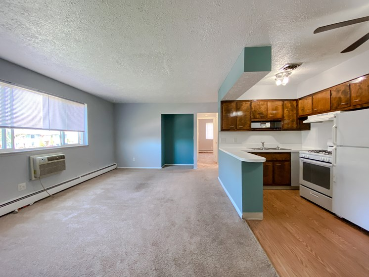 Eastlake Terrace 2 Bedroom Living Room & Kitchen