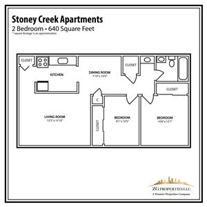 Stoney Creek 2 Bedroom Floor Plan