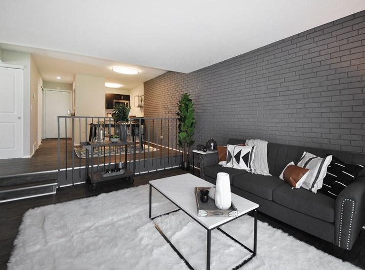Verona Step-Down Living Area (shown in Espresso style)