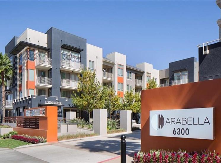 Main entrance at Carabella at Warner Center Apartments in Woodland Hills CA