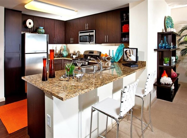 Kitchen at Carabella at Warner Center Apartments in Woodland Hills CA