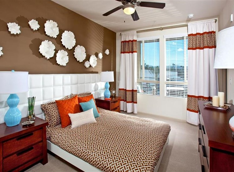 Bedroom at Carabella at Warner Center Apartments in Woodland Hills CA