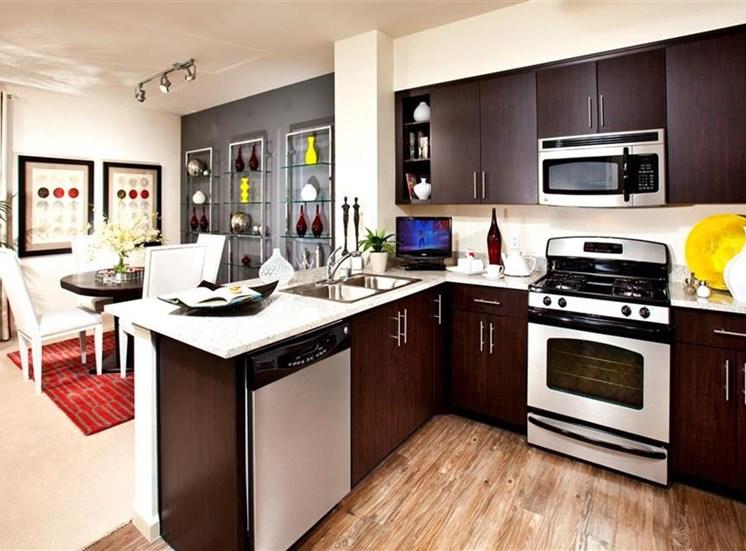 Kitchen at Carabella at Warner Center Apartments in Woodland Hills CA