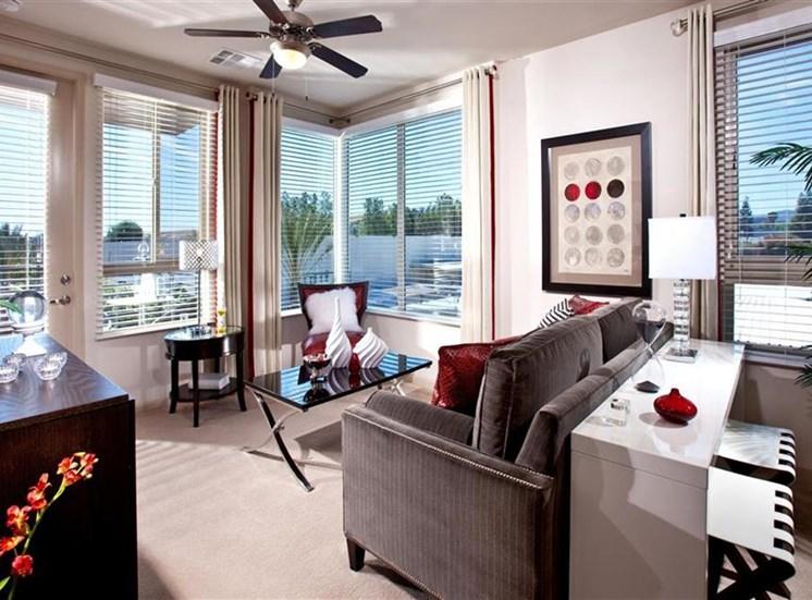 Living room at Carabella at Warner Center Apartments in Woodland Hills CA